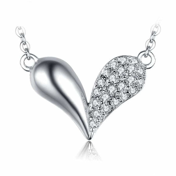 Heart Love Necklace White Jewelry 2019 Gemstone Jewelry Type_Pendants & Necklaces Necklace New Silver Jewelry