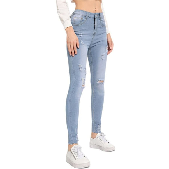 Helena Abel Ripped Jeans Bottoms Clothing Type_Jeans Clothing Type_Pants Jeans New Trends Pants