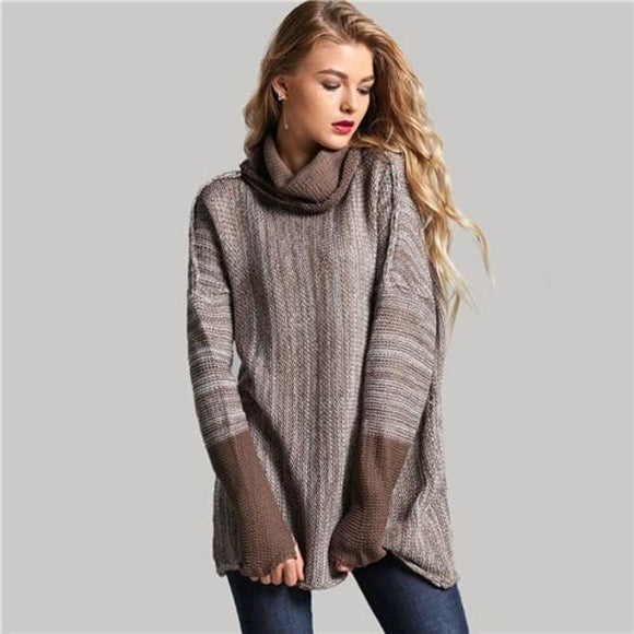 Helena High Neck Sweater Brown / S Tops Clothing Type_Tops & Blouses New Trends Season_Fall Sweater Top