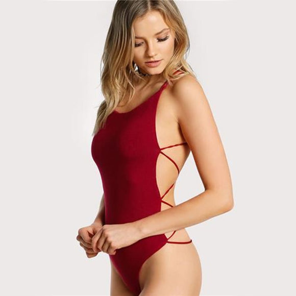 Lana Backless Bodysuit Burgundy / XS Tops Bodysuit Clothing Type_Bodysuit New Trends Season_Summer Trends 2019