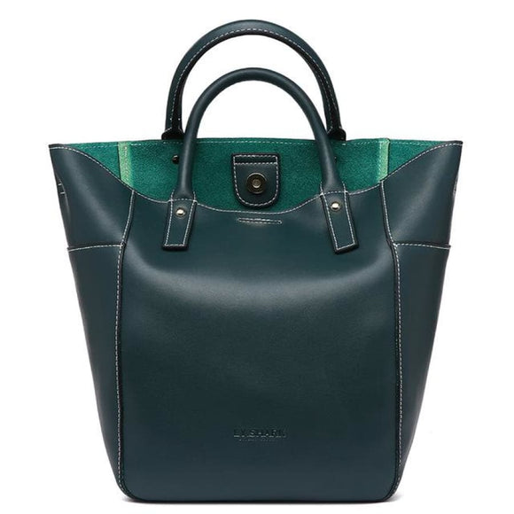Large Bucket Leather Bag dark green Bags Bag New Trends Shoulderbag Trends 2019