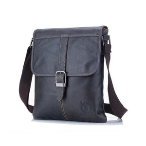 Leather Flip Messenger Bag Brown Men Bag Mens Gifts_Leather Bags & Wallets New Trends Trends 2019