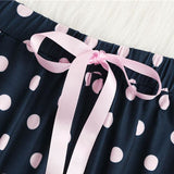 Letter Print Tank & Polka Dot Pants Pajama Set Comfy Clothing Type_Pajamas & Slippers New Trends Season_Fall Season_Summer Trends 2019