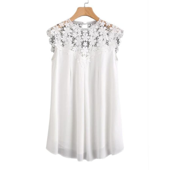 Libby Webb Lace Dress White / Xs Dresses Clothing Type_Dresses New Trends Season_Summer Trends 2019