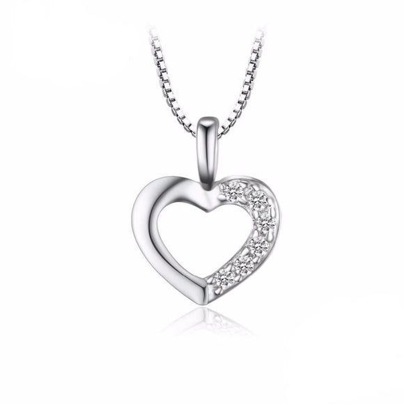 Love Heart Pendant Jewelry 2019 Gemstone Jewelry Type_Pendants & Necklaces New Silver Jewelry New Trends