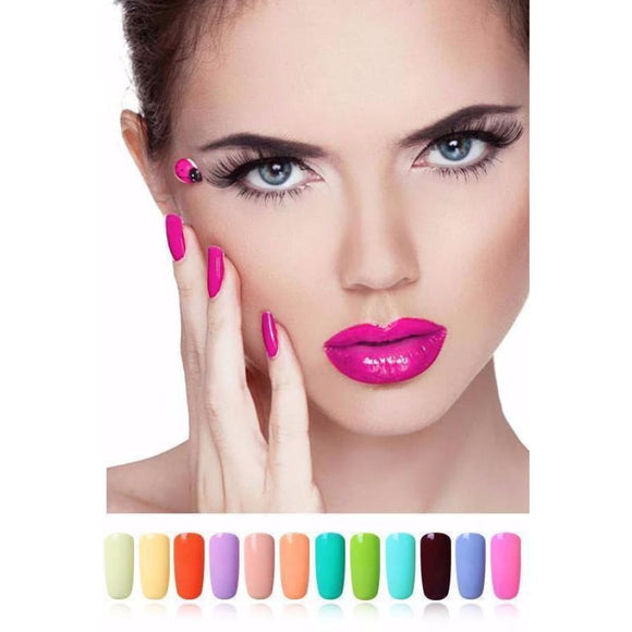 Macaron Colors Gel Nail Polish New Uv Led Manicure Lacquer Top Quality Soak Off Pure Color Nail Polish Gel Polish Makeup Type_Nails Art New