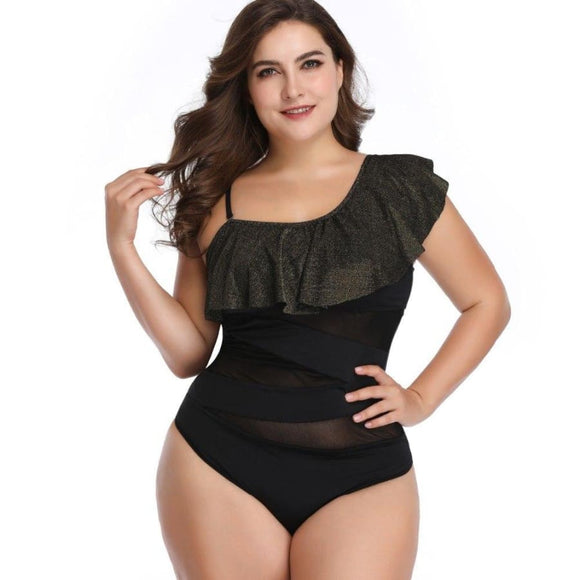 Michele One Piece Swimsuit Black / L Swimsuit Clothing Type_One Piece Swimsuit New Trends Plus Size Season_Summer Swimsuit