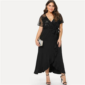 Mira Widrich Wrap Dress Dresses Clothing Type_Dresses Dress New Trends Plus Size Season_Summer