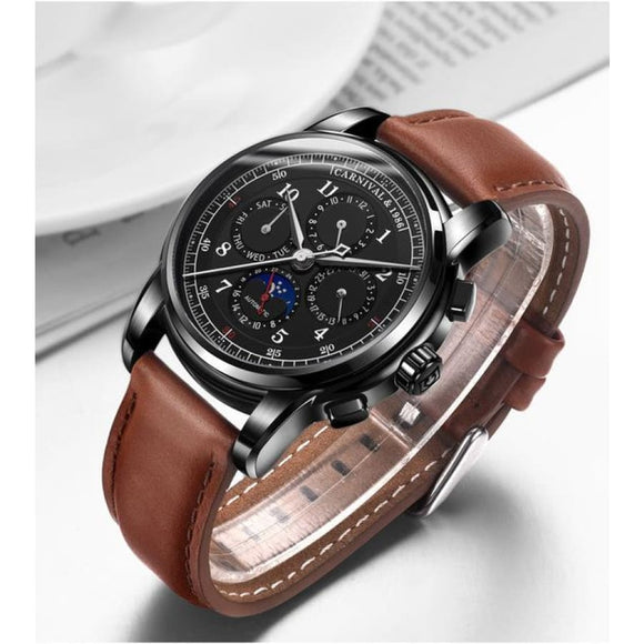Moon Phase Luxury Wristwatch 01 Men Mens Gifts_Jewelry & Watches New Trends Trends 2019 Watch
