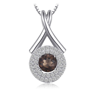 Natural Smoky Quartz Necklace Jewelry 2019 Gemstone Jewelry Type_Pendants & Necklaces Necklace New Silver Jewelry