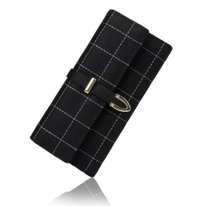 Plaid Nubuck Pu Long Wallet Pink Bags New Trends Trends 2019 Wallet/clutch
