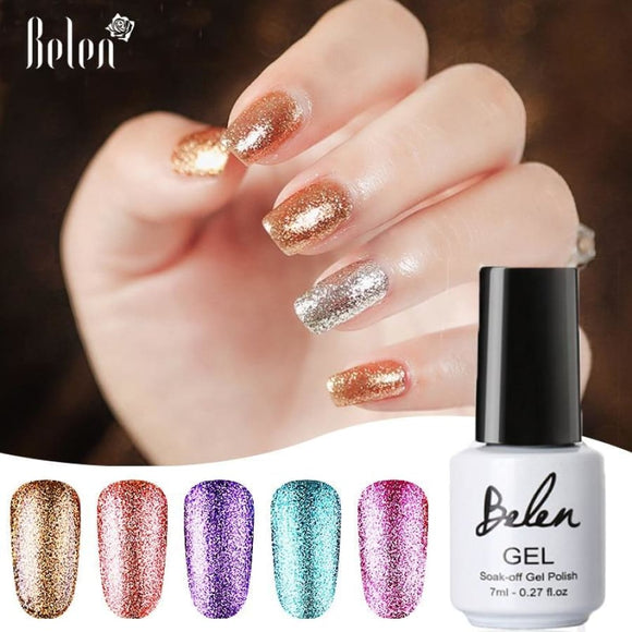 Platinum Shimmer UV Gel Polish Nail Polish Gel Polish Glitter Makeup Type_Nails Art Nail Polish New Trends