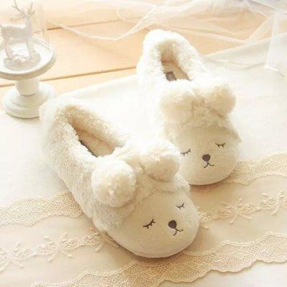 Puppy Comfortable Slippers Beige / 6 Comfy Clothing Type_Pajamas & Slippers New Trends Season_Fall Slippers Trends 2019