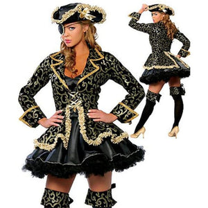 Purim adult women red noble pirate costume fancy dress Costume 2019 Clothing Type_Halloween Costumes Costume New Trends Trends 2019