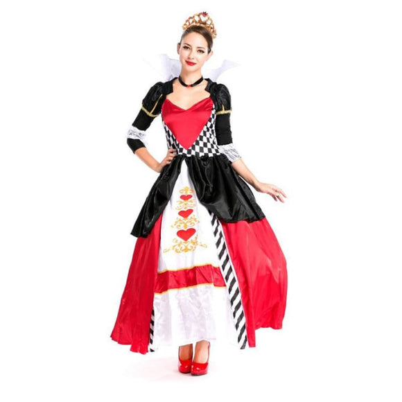 Purim carnival costume adult women Alice in wonderland red Queen Costume 2019 Clothing Type_Halloween Costumes Costume New Trends Trends