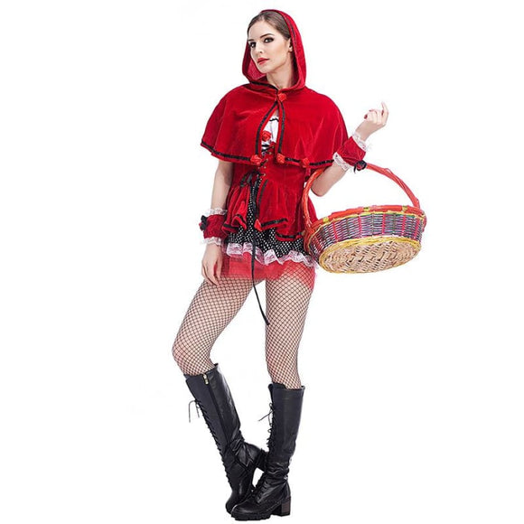 Purim Carnival Costumes Womens Little Red Riding Hood Costume Suit Castle Costume 2019 Clothing Type_Halloween Costumes Costume New Trends