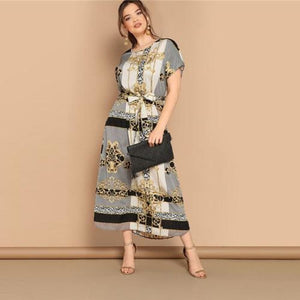 Ruth Scarf Print Maxi Dress Dresses Clothing Type_Dresses Dress Maxi dress New New Trends