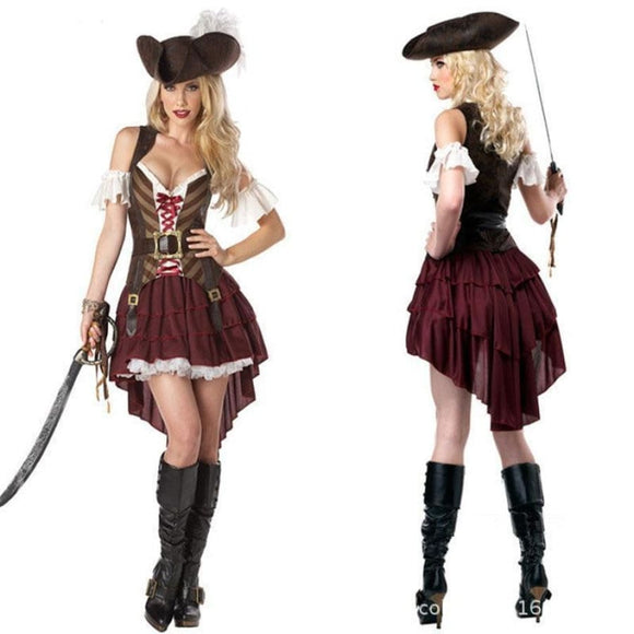 Sexy Caribbean Captain Costume Costume 2019 Clothing Type_Halloween Costumes Costume New Trends Trends 2019