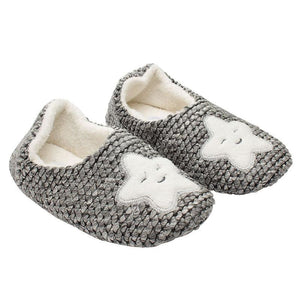 Smiling Star Slippers Gray / 6 Comfy Clothing Type_Pajamas & Slippers New Trends Season_Fall Slippers Trends 2019