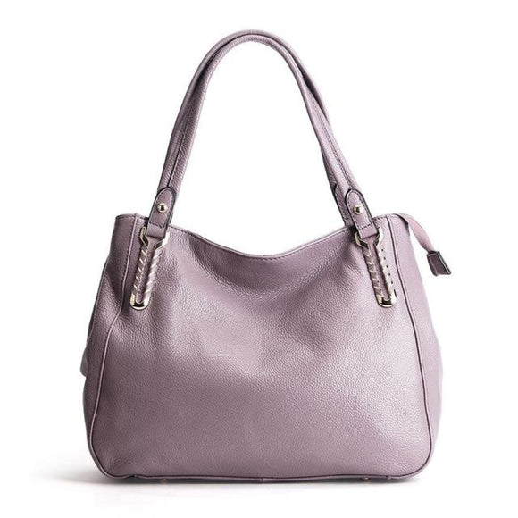 Soft Solid Leather Handbag Dark pink Bags New Trends Shoulderbag Trends 2019