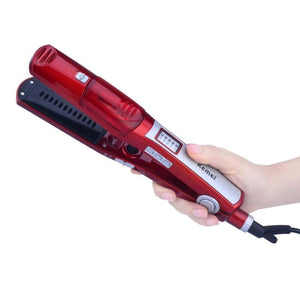 Steam Dry Flat Iron Hair Straightener Professional Hairstyling Portable Ceramic Tool Makeup Makeup Type_Tools New Trends Trends 2019