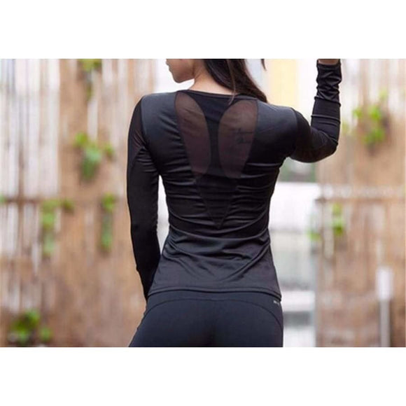 Supernova Mesh T-Shirt Black / S Fitness Fitness wear Fitness_Tops New Trends Season_Fall Top