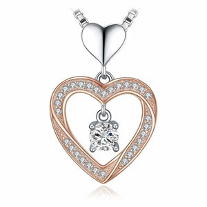 Swirl Heart CZ Pendant Jewelry 2019 Jewelry Type_Pendants & Necklaces New Silver Jewelry New Trends Pendant