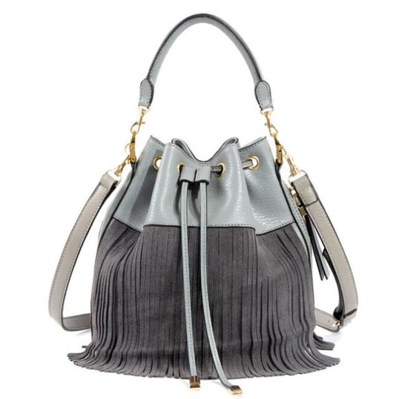 Tassel Bucket Tote Grey Bags New Trends Shoulderbag Trends 2019