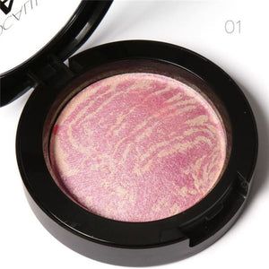 Top Quality Professional Cheek 6 Colors Makeup Baked Blush Bronzer Blusher With Brush By Focallure Makeup Highlighter/shimmer/blusher Makeup
