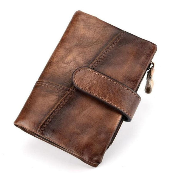Trifold Vintage Wallet Men Mens Gifts_Leather Bags & Wallets New New Trends Trends 2019