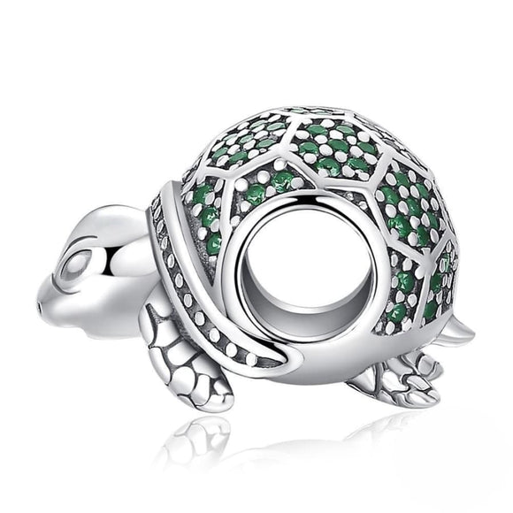 Turtle Nano Russian Simulated Emerald Charm Jewelry 2019 Gemstone Jewelry Type_Charm Bracelet New Silver Jewelry New Trends