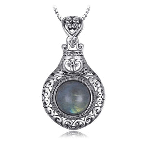 Vintage Labradorite Pendant Jewelry 2019 Gemstone Jewelry Type_Pendants & Necklaces New Silver Jewelry New Trends