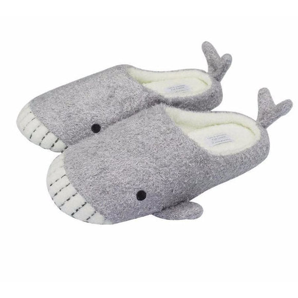 Whale Gray Slippers Comfy Clothing Type_Pajamas & Slippers New Trends Season_Fall Slippers Trends 2019