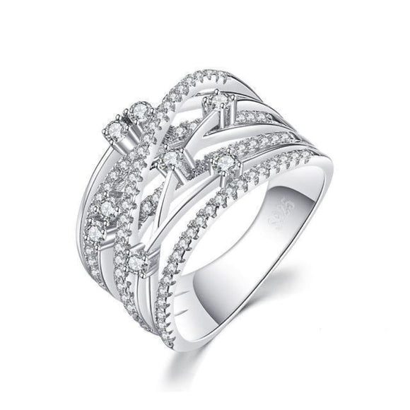 Wide Band Cocktail Ring Jewelry 2019 Gemstone Jewelry Type_Sterling Silver Rings New Silver Jewelry New Trends