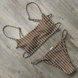 Zoe Striped Bikini Set Stripes / L Swimsuit Bikini Set Clothing Type_Bikini Set New Trends S-3 Season_Summer