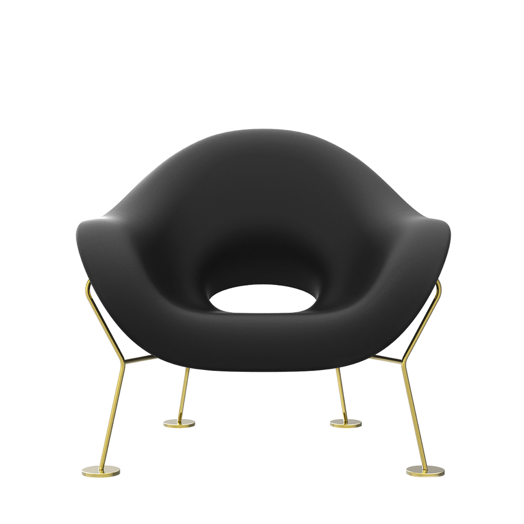 Pupa Armchair Brass Base Indoor