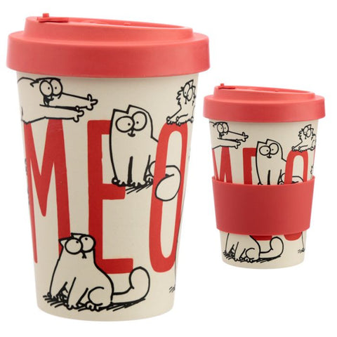 Simon's Cat Reusable Bamboo Travel Mug - Meow