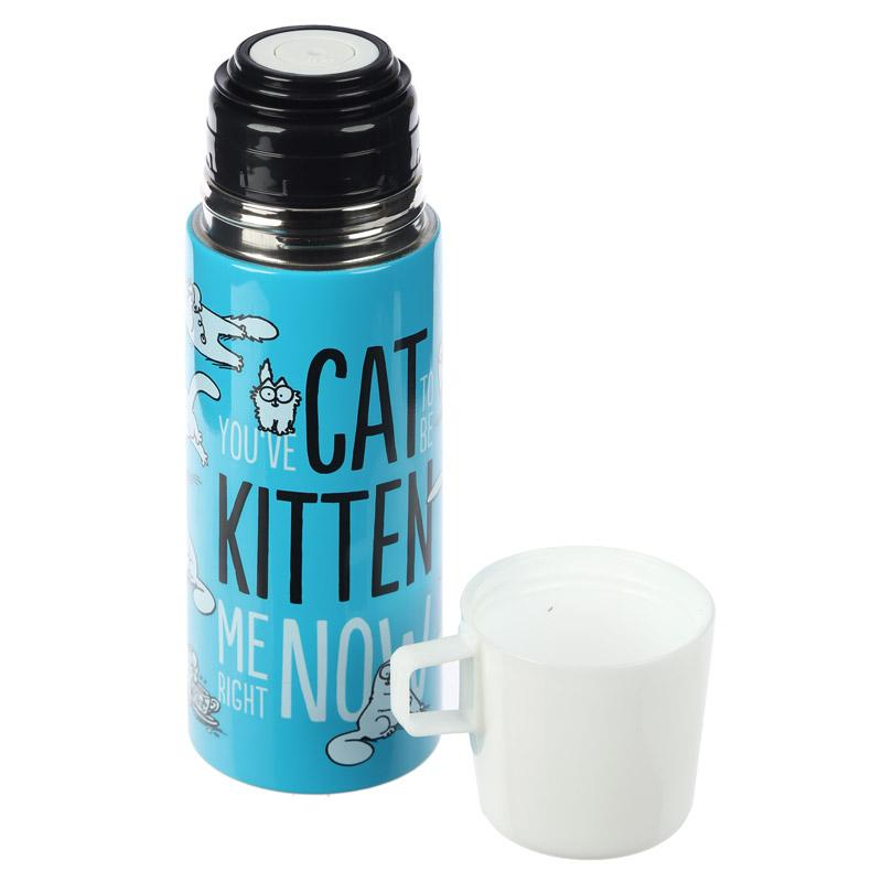 Stainless Steel 350ml Flask Thermal Drinks Water Bottle - Simon's Cat Shop