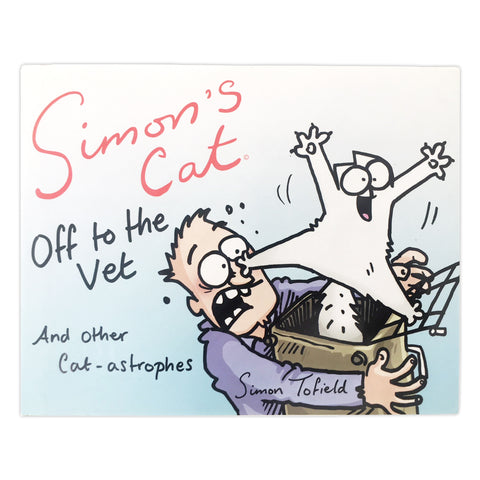 Autographed by the Artist ! Simon's Cat, Off to the Vet and other Cat-astrophes Special Edition - Simon's Cat Shop