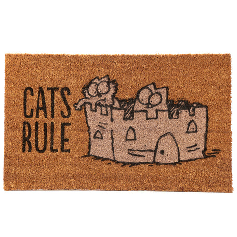 Cat's Rule Doormat - Simon's Cat Shop