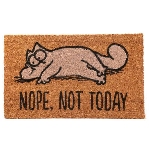 Nope Not Today Doormat - Simon's Cat Shop
