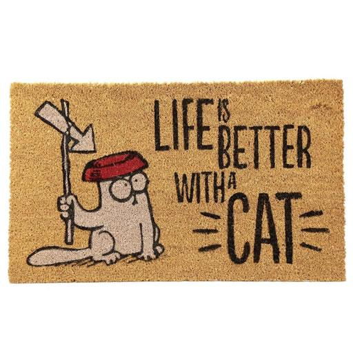Life is Better With a Cat Doormat - Simon's Cat Shop