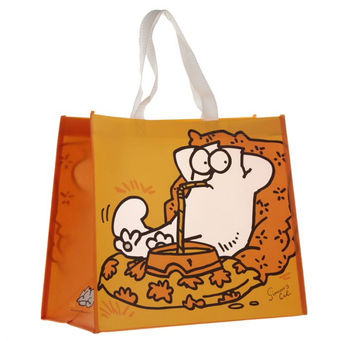Yellow and Orange Shopper Tote Bag - Simon's Cat Shop