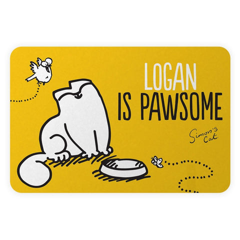 Personalised Pawsome Yellow Door Plaque - Simon's Cat Shop