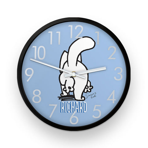 Personalised Blue Simon's Cat Clock