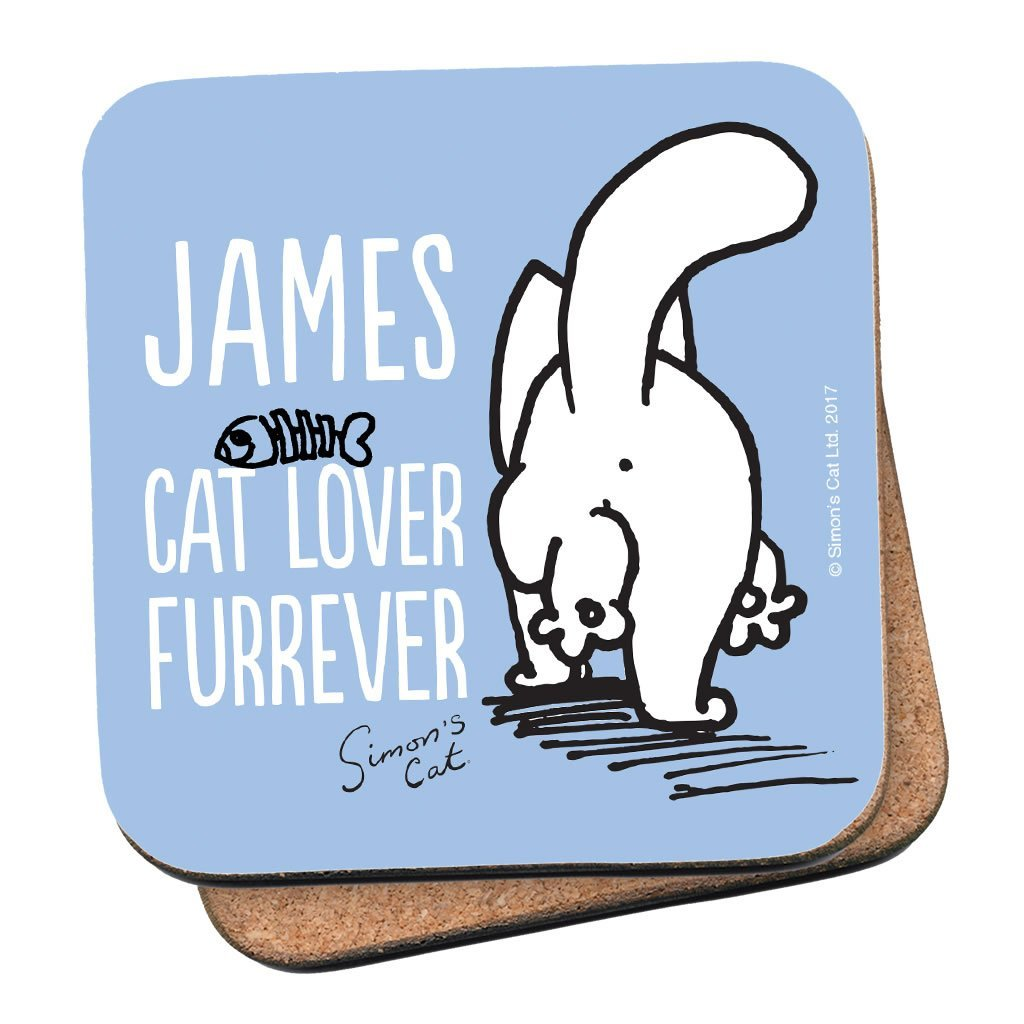 Personalised Cat Lover Furrever Coaster - Simon's Cat Shop