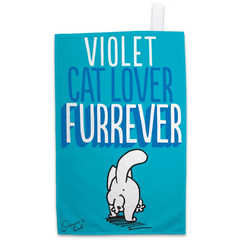 Personalised Cat Lover Furrever Tea Towel - Simon's Cat Shop