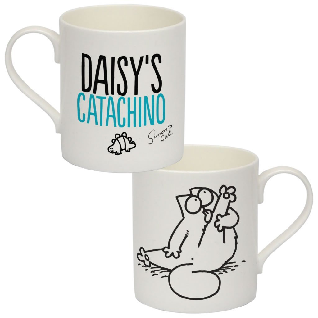Personalised Catachino Bone China Mug - Simon's Cat Shop
