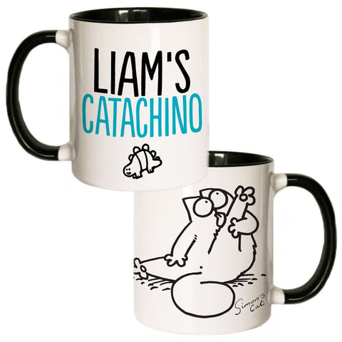 Personalised Catachino Coloured Insert Mug - Simon's Cat Shop