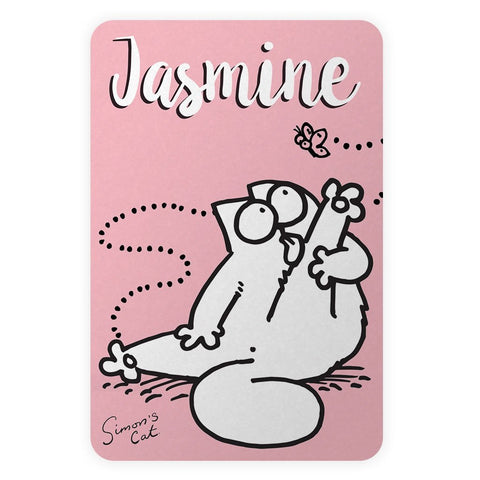 Personalised Preening Pink Door Plaque - Simon's Cat Shop